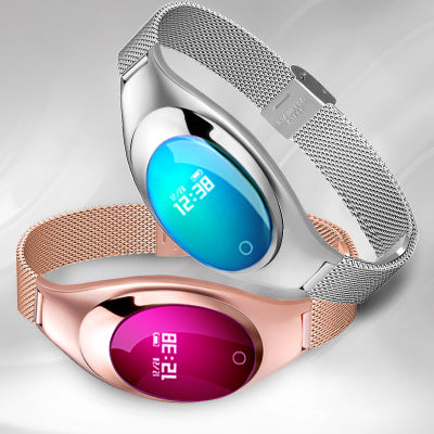 Z18 Women Smart Bracelet Luxury Fashion Female Fitness Tracker Wristband Wrist Watch