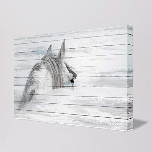 'Glance Back from Horse ' Gallery-Wrapped Animal Painting Wall Art for Living Room