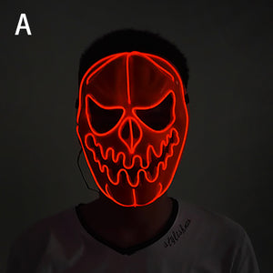 Halloween LED Mask DJ Party Light Up Masks Glow In Dark