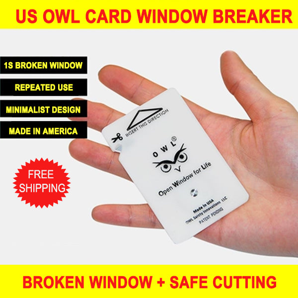 United States OWL card safety hammer cutting rope car defensive car supplies car multi-function mini window breaker