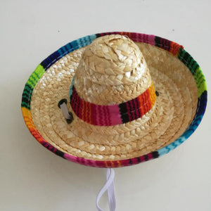 【BUY 1 GET 1 FREE】Pet mexican straw hat pet cat visor