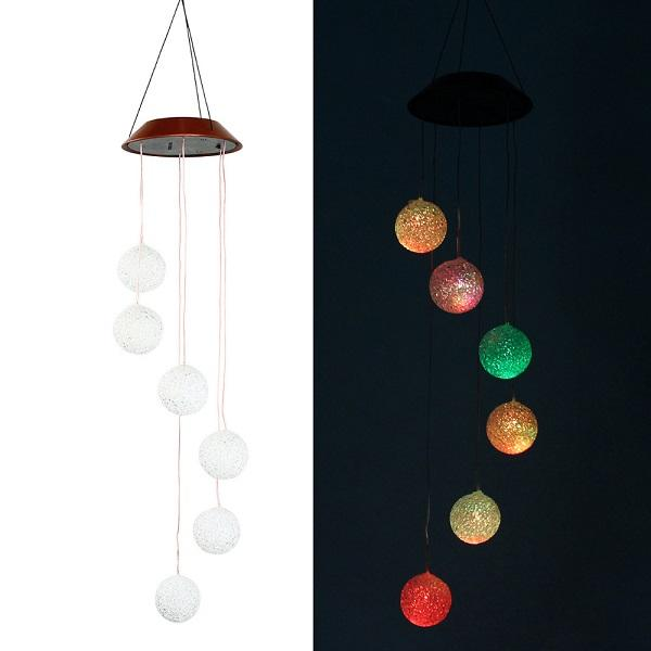 Solar Powered LED Lamp Wind Chimes