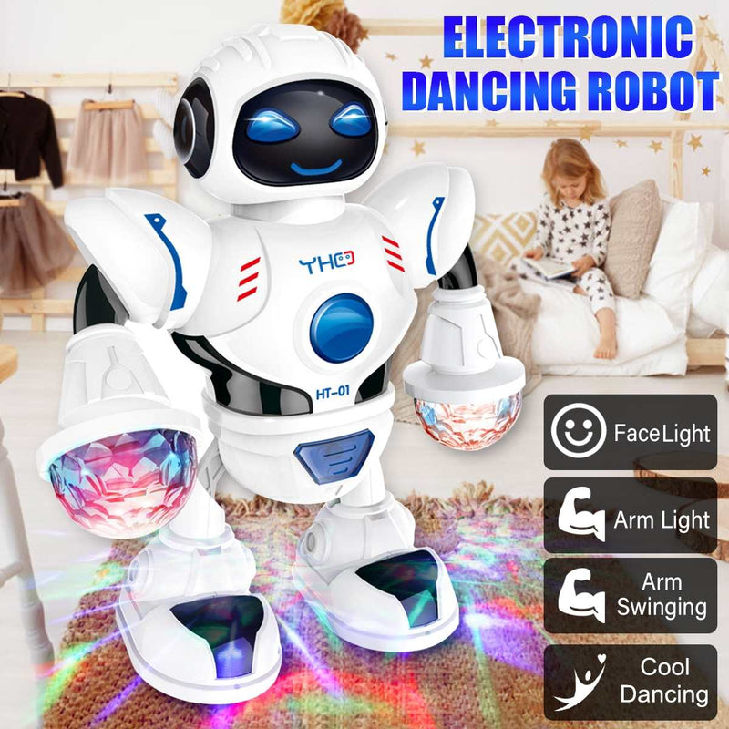 【Buy One Get One Free】Dancing Electric Robot Toy Musical Light LED Flashing