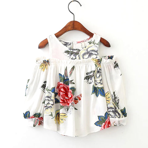 AiLe Rabbit 2018 New Arrival Girls' Flower Tops Blouse Long Sleeve Shirts Girl's Clothing Children's Wear Brand Boutique