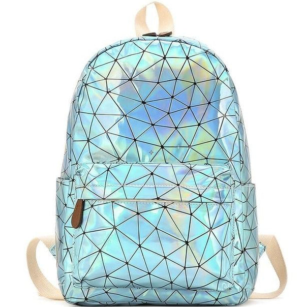 Large Travel Bags Laser Backpack Women Men Girls Bag PU Leather Holographic Backpack School Bags for Teenage Girls fashion bag