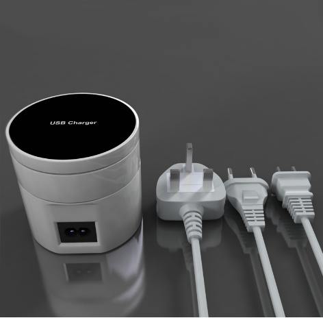 Universal Travel Adapter, USB smart Type-c charger multi-port USB charging wireless charger US/  Eu/ UK regulations