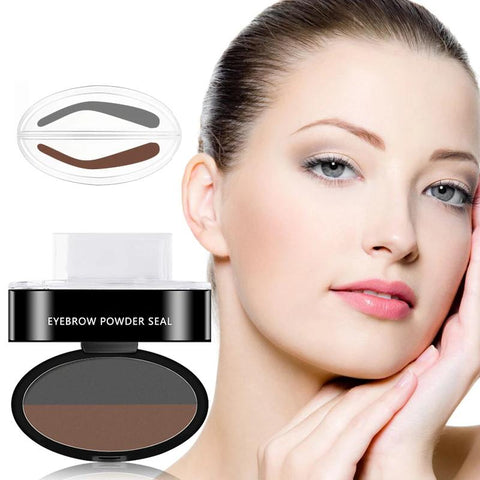 3 Colors Quick Makeup Eyebrow Powder Seal Waterproof Eyebrow Stamp【buy one get one】