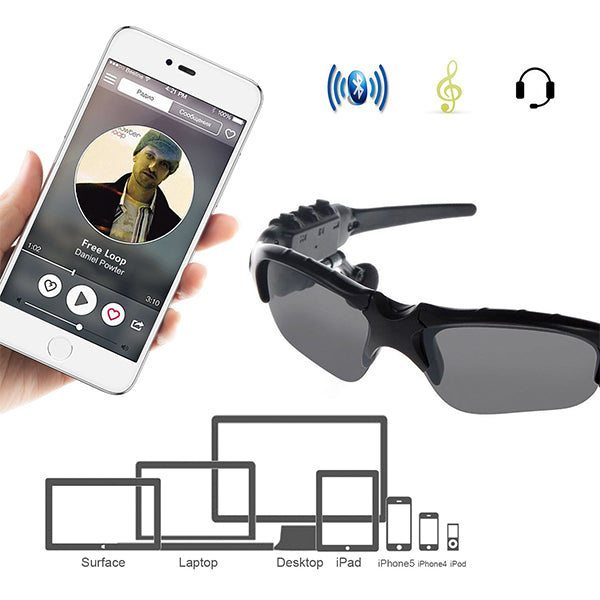 Sunglasses - Wireless Bluetooth Headset Music Callable