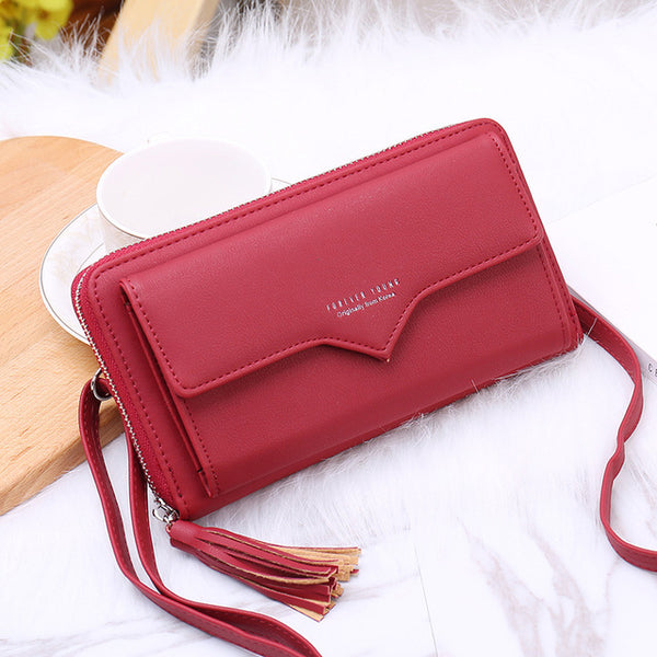New women's wallet Japan and South Korea simple zipper long multi-card large capacity portable coin purse bag