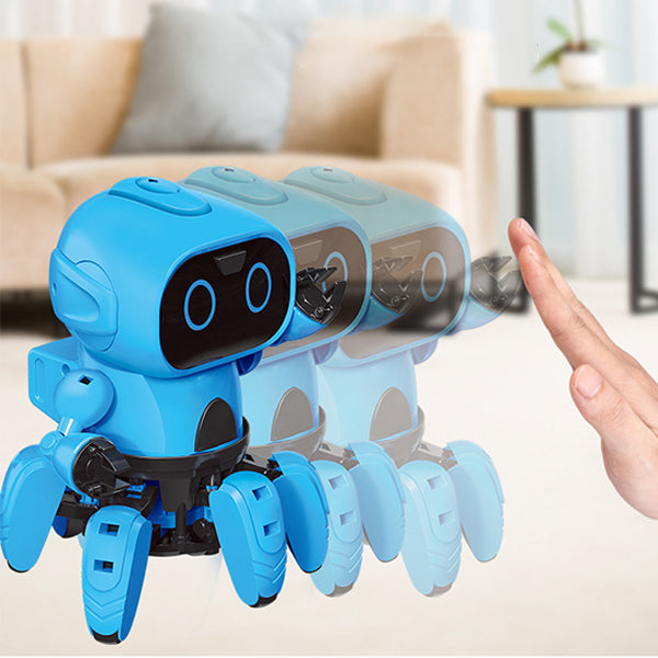 Intelligent induction RC robot man and gesture sensor obstacle avoidance children educational toys