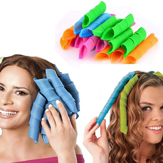 (Buy 1 packet Get 1 packet FREE ) Magic Hair Curlers, 18 Pieces per packet
