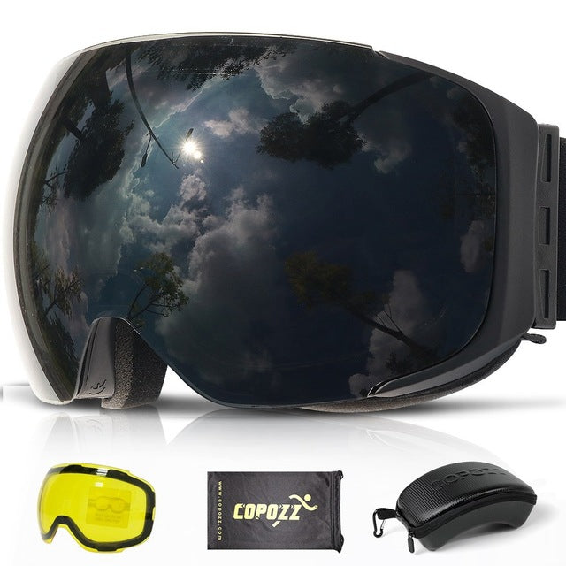 adbf3f826 ... COPOZZ Magnetic Ski Goggles with 2s Quick-change Lens and Case Set  UV400 Protection Anti ...