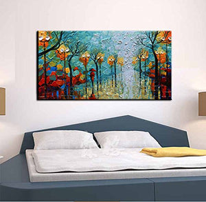 Baccow Landscape Paintings 2448 3d Hand Painted Abstract Art Work Framed Paint Art Wall Painting For Living Room Bedroom Office Hallway Wall