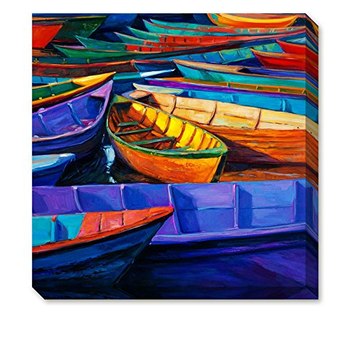 Sea Sailboat Back Homeport paintings Canvas Wall Art - Landscape Oil Painting
