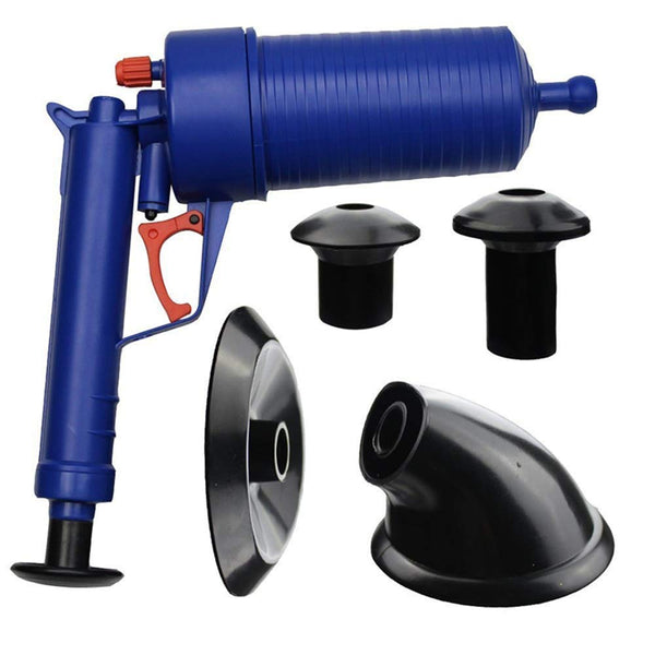 Air Power Drain Blaster gun, High Pressure Powerful Manual sink Plunger Opener cleaner pump for Bath Toilets, Bathroom, Shower, kitchen Clogged Pipe Bathtub