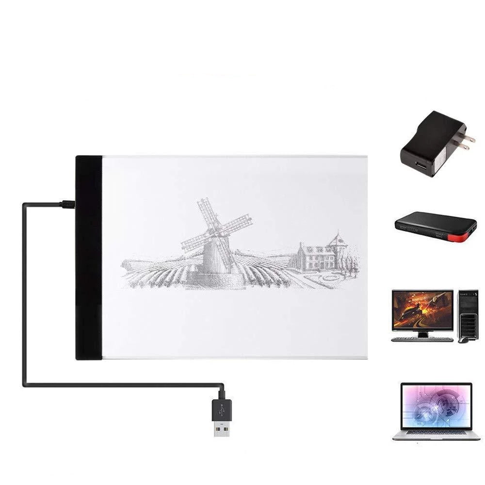 USB Powered Ultra-Thin A4 LED Drawing Pad Animation Tracing Light Box Light box Tablet Board Blank Canvas for Painting