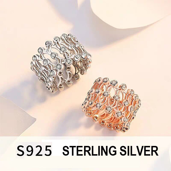 925 Sterling Silver Magic 2-in-1 Folding Retractable Ring Bracelet