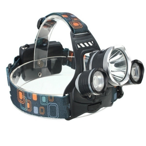 8000Lm 3 LED XM-L2 T6 Headlamp Headlight+2x18650 Battery+US/EU Charger+Car Charger