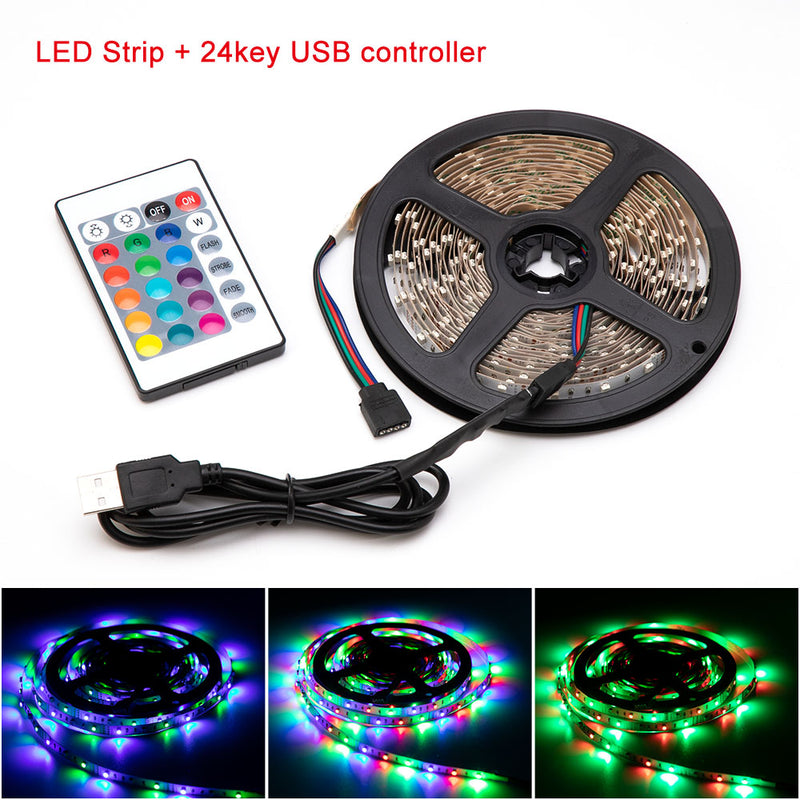 LED Strip Light RGB 2835 Flexible Ribbon fita led light strip RGB 5M Tape
