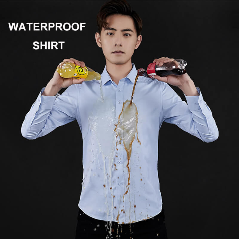 Outdoor Camping 100% Waterproof Hiking Shirts Men Creative Hydrophobic Leisure Shirt Trekking Hiking Breathable shirts M-5XL