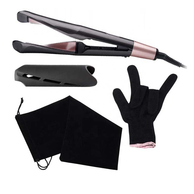 Unique Twisted Ceramic Coated Plates 2 in 1 Hair Straightener Curling Iron