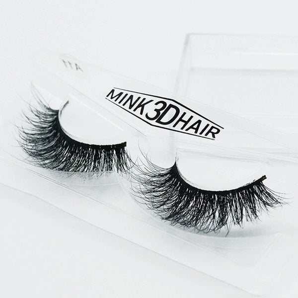 3D Lashes Mink Natural Thick False Fake Eyelashes Eye Lashes Makeup Extension jun
