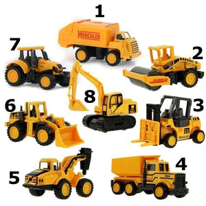 8 types Diecast Mini Alloy Construction Vehicle Engineering Car Dump-car Dump Truck Model Classic Toy