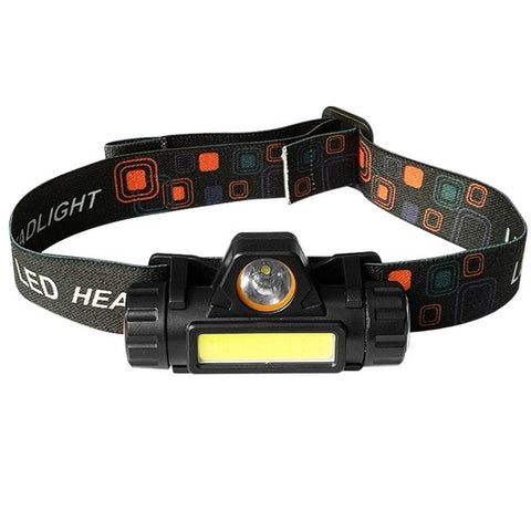 Outdoor Camping Portable Mini COB LED Headlamp USB Charging Fishing Headlights Flashlight