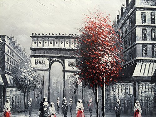 Arc DE Triomphe Landscape Handpainted Oil Painting