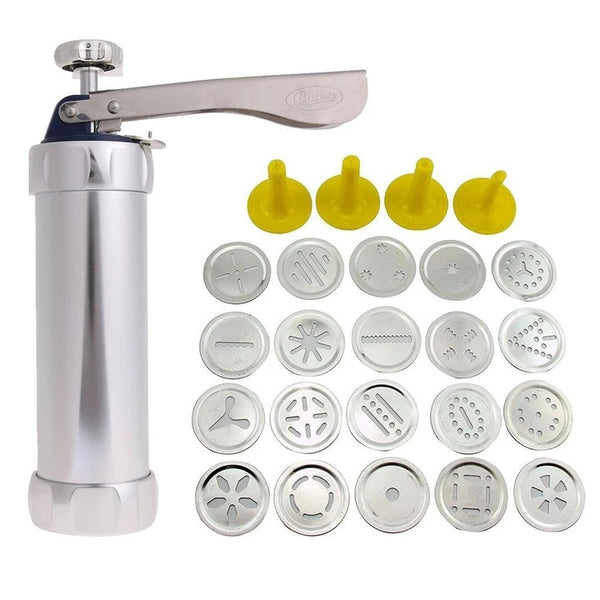 LOW PRICE! 20-in-1 Perfect Cookie Press Set (20pcs Mold + 4 Nozzle)