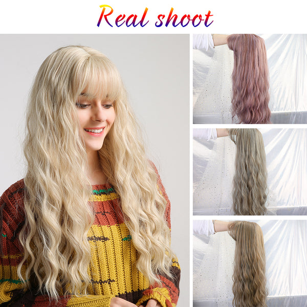 "26"" Women's Wig Light Blonde Synthetic Hair Long Curly Wig Heat Resistant Weave Wigs For Women Use and Cosplay"
