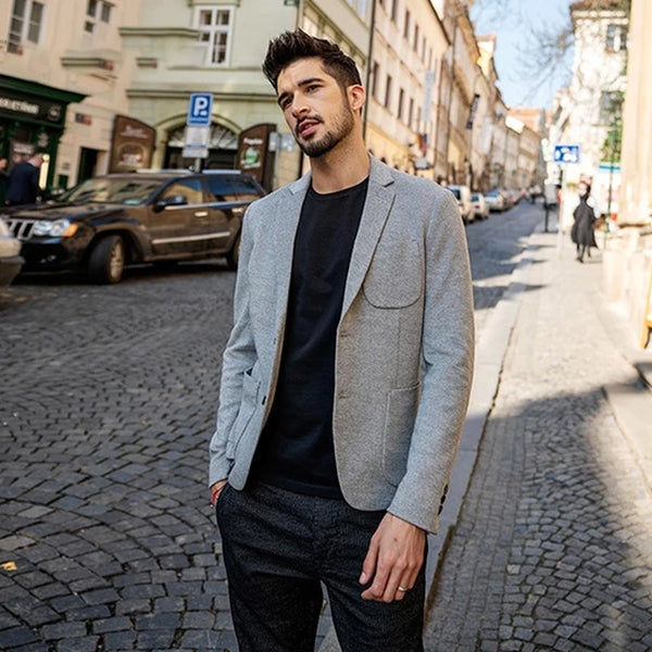 Simwood 2018 New Smart Blazers Men Fashion Suit Casual Slim Fit Blazer Masculino Brand Jackets For Men Free Shipping 180352