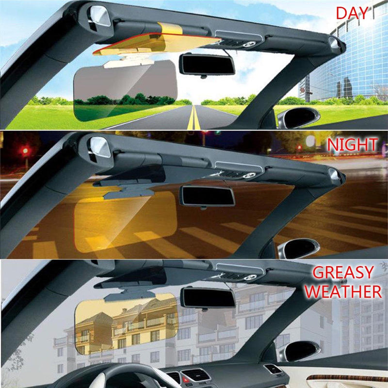 【50% Discount For Only 3 Days】New Arrival 2 in 1 Car Anti-Glare Day Night Driving Glass Prevent Dazzle Mirror Goggles Mirror Sun Visors Shade