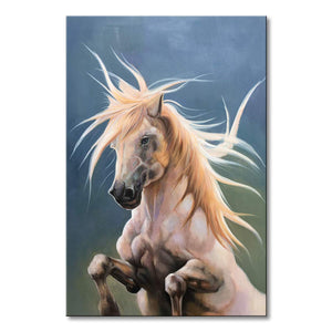 Large Hand Painted Running Horse Canvas Art Abstract Animal Oil Painting for Wall