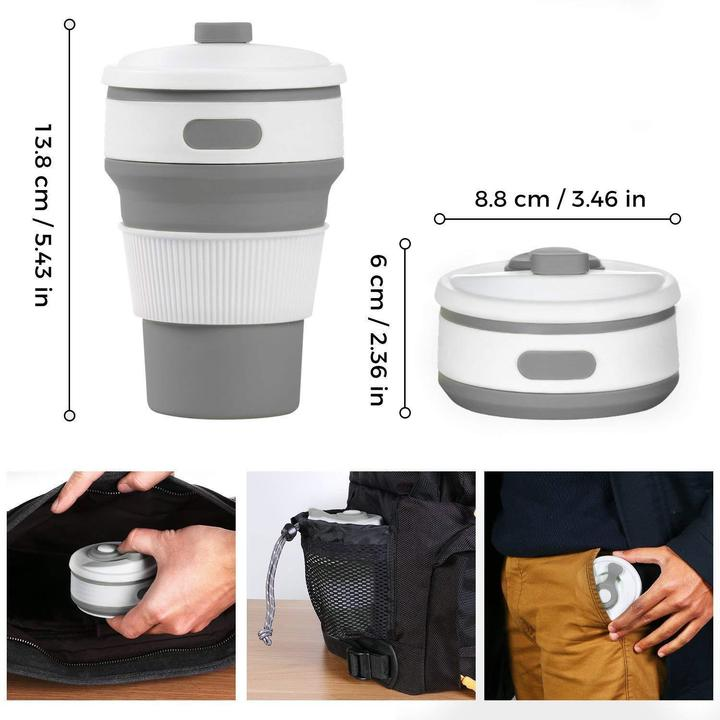 Collapsible Silicone Cup Food-grade Reusable Leak-proof Pocket Foldable Cups