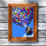 Adult Paint by Numbers Framed, Komking DIY Painting by Number Kits on Canvas for Beginner, Colorful Balloon