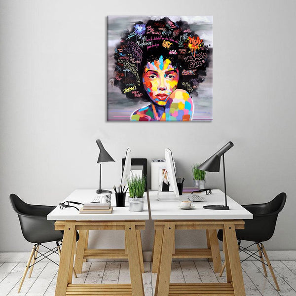 African American Black Art Canvas Bedroom Decor Wall Art Canvas Painting