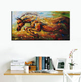 Paint Horse 3D Wall Art 2448, Hand Painted Abstract Art Work Animal Paining Canvas for Living Room Bedroom Wall Decor