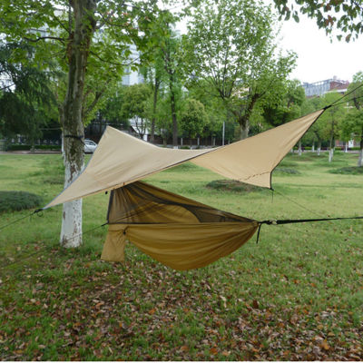 Outdoor Pop-Up Netting Hammock Tent With Waterproof Awning Canopy