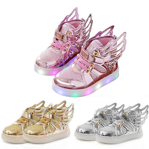 Kids LED Shoes luminous Sneakers Child Breathable Light Flashing Baby Boys Casual Shoes