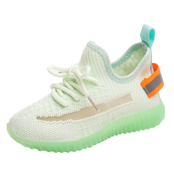 Toddler Kids Child Baby Girls Boys Mesh Luminous Casual Sport Shoes Sneakers