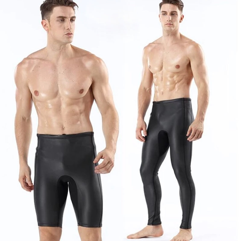 New products 2MM light skin CR diving suit, diving trousers, warm diving trousers, men's outdoor swimming trunks, free diving