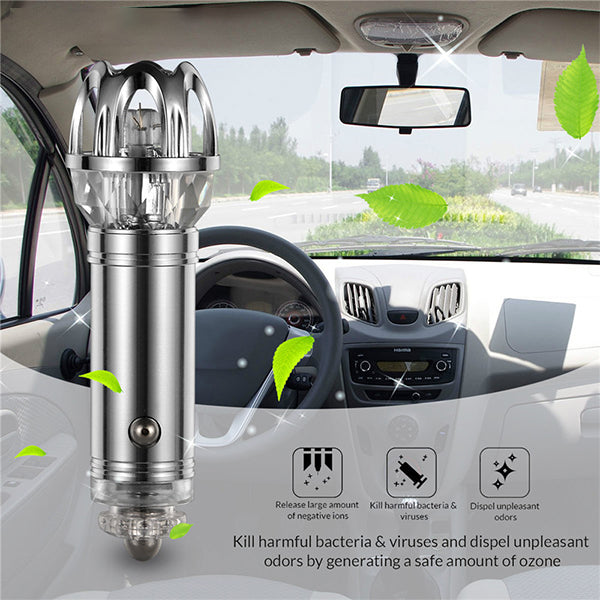 Car Air Purifier - Removes Pollen, Smoke, Bad Smell and Odors