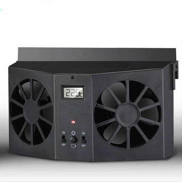 Car Air Conditioner Fan - Solar Powered Car Window Air Vent Ventilator Mini Air Conditioner Cool Fan