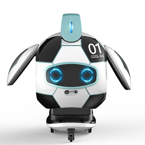FINECO FX-J01 CoolBO Soccer Football Smart Voice Recognition Touch Control Obstacle Avoidance Sing Dance RC Robot Toy - Voice Recognition Version