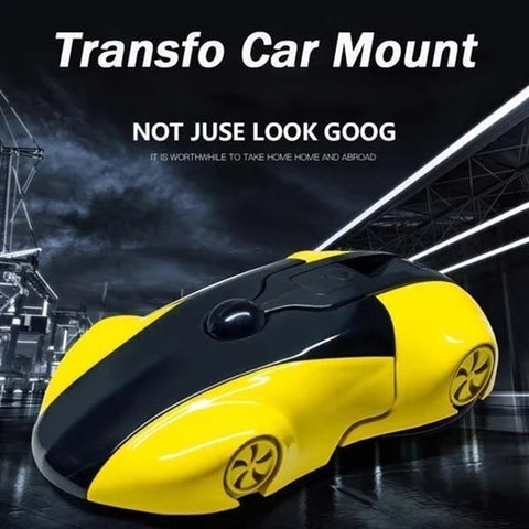 Transformers Deformable Car Phone Holder 360 Degree Rotation Sport Car Model Phone Mount Smartphone Stand Support