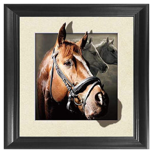 Horse 3D Poster Wall Art Decor Framed Print oil painting