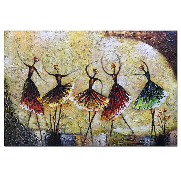 Ballet Dancer Girl Paintings Modern Home Decor Wall Art Painting Wood Inside Framed Hanging Wall Decoration Abstract Painting