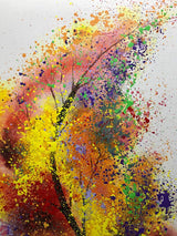Colorful Lucky Tree Hand-Painted on Canvas Tree of Life Canvas Wall Art Abstract Oil Paintings