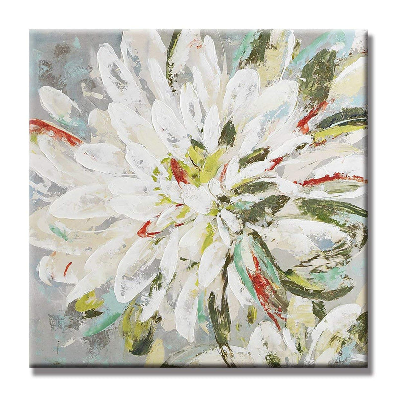 Natural Flower Canvas Wall Art 100% Hand Painted Contemporary Abstract Flower Oil Painting